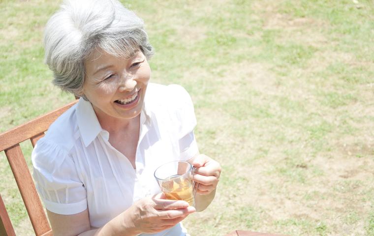 笑顔のおばあちゃん