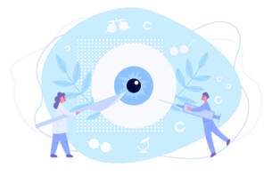 目の手術を受ける