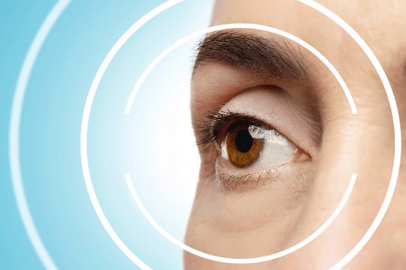 女性の目の接写